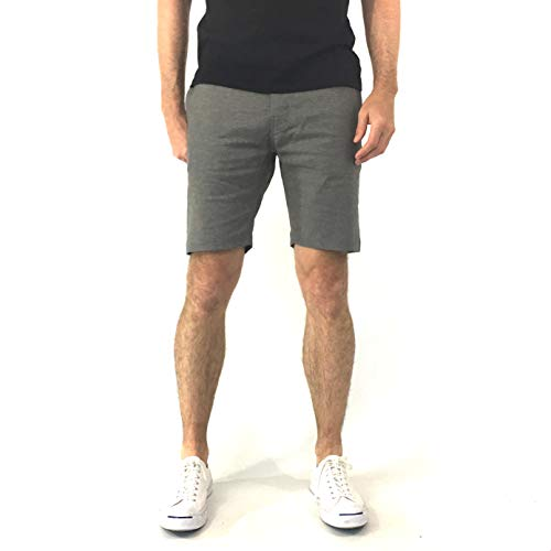 (Kit Culture Mens Stretch Hemp Short 9 inch Inseam-Sustainably Made in The USA (Grey,)