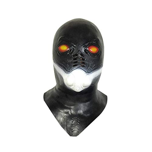 JGBHPNYX Alien Gas Mask Shaped Oxygen Mask Horror Halloween Bar Latex Hood
