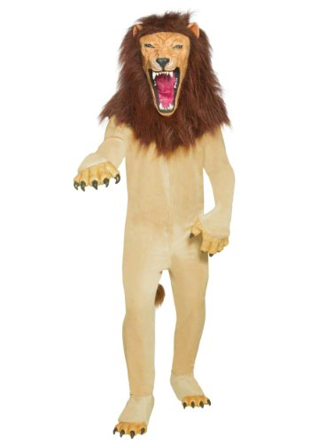 Smiffys Men's Cirque Sinister Vicious Circus Lion Costume, Jumpsuit, Hands, Mask and Shoe covers, Cirque Sinister, Halloween, Size M, -
