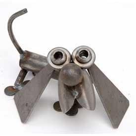 Mini Hot Dog Recycled Metal Sculpture