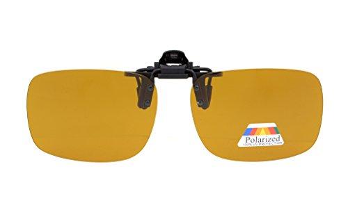 Eyekepper Flip-up Clip-on Sunglasses Polarized 2 3/8 x 1 11/16 4-Pack Metal Glasses Clip