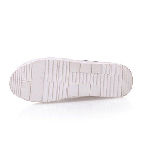 On BalaMasa Toe Urethane Womens Shoes Pull Claret Platform Oxfords Round TwXF4qU