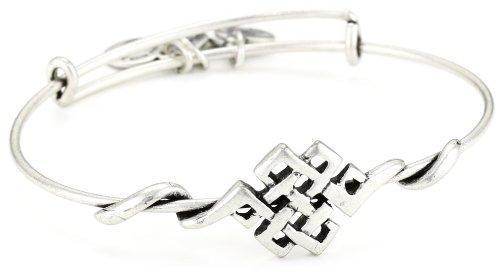 Alex and Ani Spiritual Armor Endless Knot Expandable Wire Bangle Bracelet, 7.75