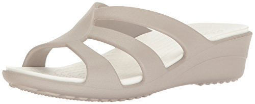 Image of Crocs Women's Sanrah Strappy Wedge Sandal
