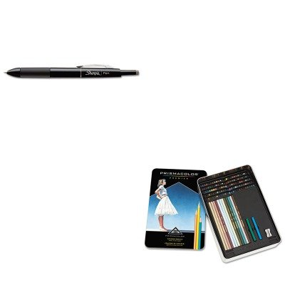 KITSAN1753178SAN4484 - Value Kit - Prismacolor Drawing amp;amp; Sketching Pencils (SAN4484) and Sharpie Porous Point Retractable Permanent Water Resistant Pen (SAN1753178)