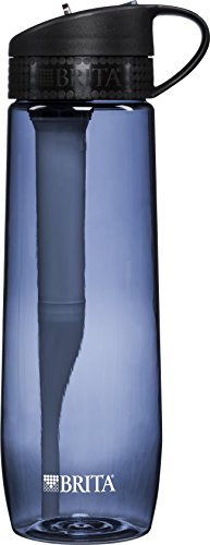 Brita Hard Sided Water Filter Bottle, Pink, 23.7 Ounces