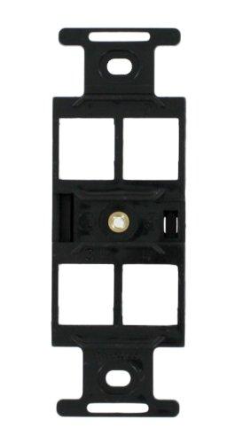 Leviton 41087-QEP QuickPort Duplex Type 106 Insert, 4-Port, Black