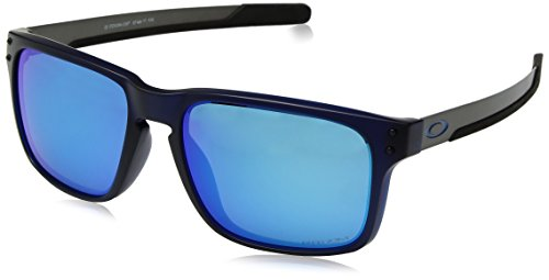 Oakley Men's OO9384 Holbrook Mix Rectangular Sunglasses, Matte Translucent Blue/Prizm Sapphire, 57 ()