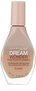 10. Maybelline New York Dream Wonder Fluid-Touch Foundation, 0.67 Fluid Ounce