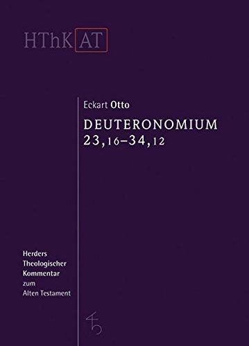 Price comparison product image Deuteronomium 23, 16-34, 12