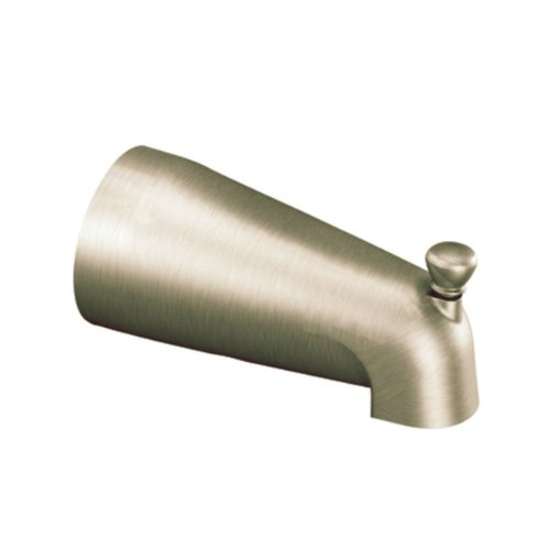 (Cleveland Faucets 40911BN Bathtub Slip-fit Diverter Spout, Brushed Nickel)