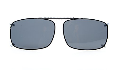 "Eyekepper 2 5/16""x1 5/8"" Large Clip On Sunglasses Polarized Grey Lens"