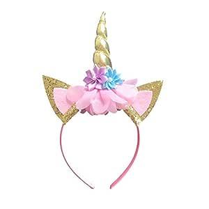 Magical Unicorn Horn Head Party Hair Headband for kids Cosplay Decoration, Gold