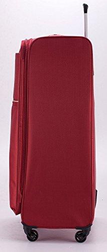 HAUPTSTADTKOFFER® 79 Liter (ca. 70 x 45 x 25 cm) Weichgepäck · Reisekoffer · MITTE LIGHT · ROT