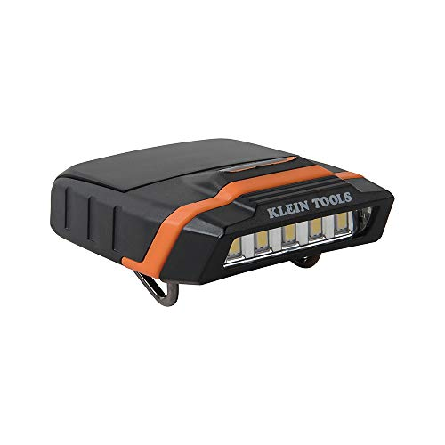 (Klein Tools 56402 Cap Visor Clip Light, LED Clip on Light, Pivoting Head, 2 x AAA Batteries Included)