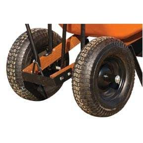 A.M. Leonard Wheelbarrow Conversion Kit, Pneumatic Tire (Wide Turf Tread, 5.5-inches Wide)