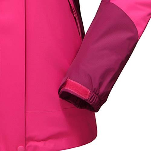 Manga Npradla Larga Rosa Capucha Para Claro Casual Mujer Abrigo qOBzt