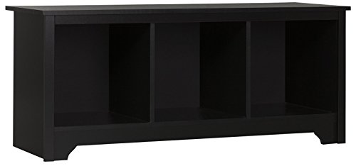 South Shore Vito Cubby Storage Bench, Pure Black - Cubby Storage Bench