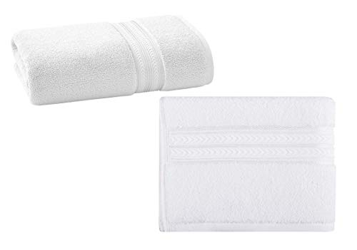 Better Homes & Gardens Thick & Plush Solid Bath Towel in Arctic White Bundle Thick & Plush Solid Hand Towel in Arctic (Best Better Homes And Gardens Towels Baths)