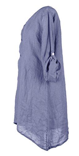 TEXTUREONLINE - Camisas - para mujer Azul Aciano