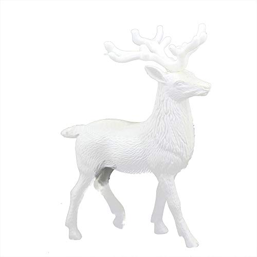Topiary Reindeer (Vertily Xmas Decor, White Deer Reindeer Kid Doll for Christmas Wedding Thanksgiving Parties Everyday Use-12x14 cm)