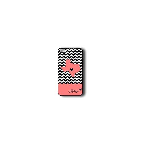 Krezy Case Monogram iPhone 6 Case, Colorful chevron with texas map Pattern Monogram iPhone 6 Case, Monogram iPhone...