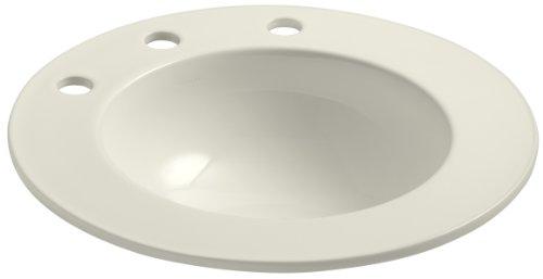 KOHLER K-2282-10-96 Camber Self-Rimming Bathroom Sink, Biscuit ()