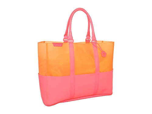 Croc Large Tote - Crocs Children's Jelly Translucent Beach Tote,Pink,US