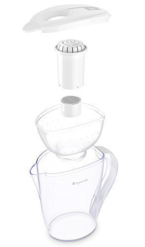 pH RESTORE Alkaline Water Pitcher Ionizer With 2 Long-Life Filters - Water Filter Purifier - Water Filtration System - High pH Alkalizer Machine, Enhanced 4th Gen. Model, 118oz, 3.5L (White) by Invigorated Water (Image #5)
