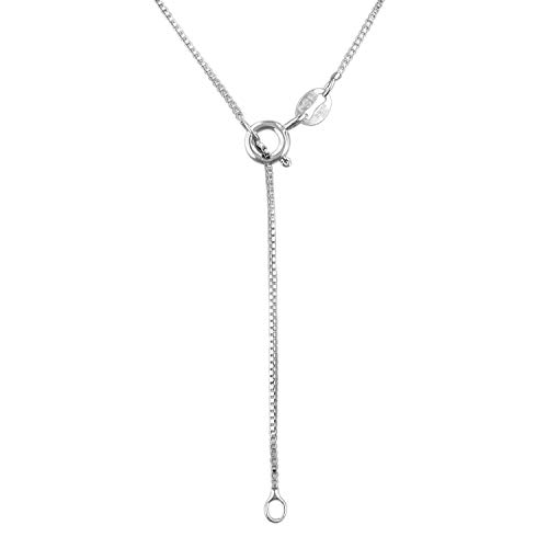 Sterling Silver 1mm Box Chain Necklace Solid Italian Nickel-Free, 16