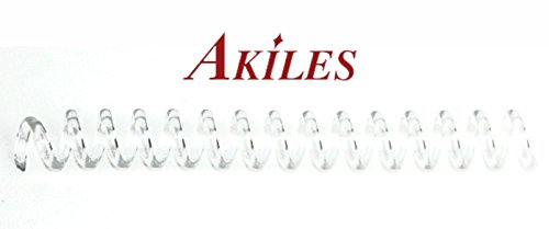 Akiles Spiral Coil Binding Spines 12mm (15/32 x 12-inch) 4:1 (pk of 100) Clear