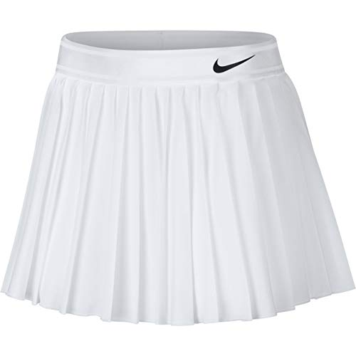 (Nike Women's Court Victory Tennis Skirt (White/Black, X-Small))