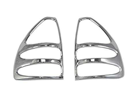 ABS Chrome Rear Tail Fog Light Cover Trim 2PCS For Toyota Prado Fj120 2003-2009