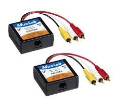 MuxLab 500039-2PK Stereo Hi-Fi Video Balun Male, 2-Pack by Muxlab