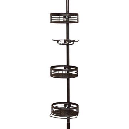 Zenith 3-Shelf Tension Pole Caddy, Oil Rubbed Bronze