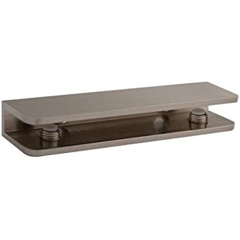 brushed nickel rectangular glass shelf bracket floating brackets uk oil rubbed bronze