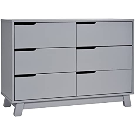 Babyletto Hudson 6 Drawer Assembled Double Dresser Grey