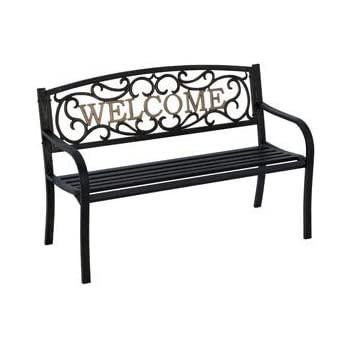 Amazon Com Living Accents Park Bench Welcome 50 5 Quot W X