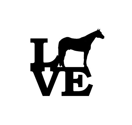 Creative Concept Ideas Love Horses CCI Decal Vinyl Sticker|Cars Trucks Vans Walls Laptop|Black|5.5 x 5.0in|CCI2239