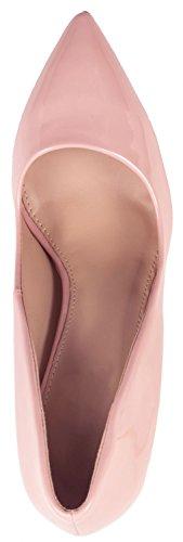 a in comode tacco rosa vernice paris con pump scarpe stiletto Elara tacco punta con moderne gHqw154P