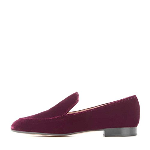 Flats Men Slip Casual 15 On Nancy US Fashion Shoes Suede Purple Jayjii Loafers Size Hxqw58X