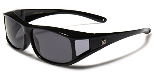 Barricade Polarized Rectangular Fit Over Glasses Sunglasses with Side - Over Sunglasses Fit Safety