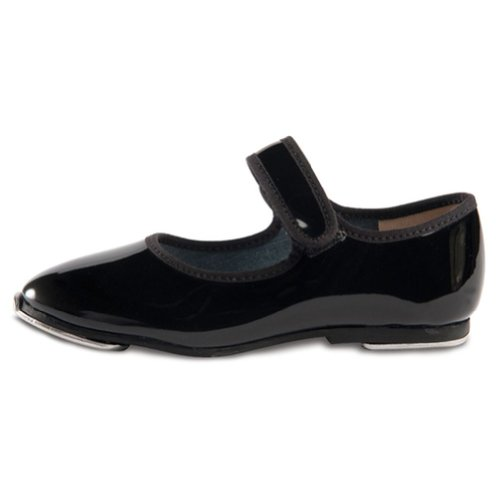 Danshuz Toddler Girls Black Patent Strap Tap Shoe Size (Patent Leather Ballet Shoes)