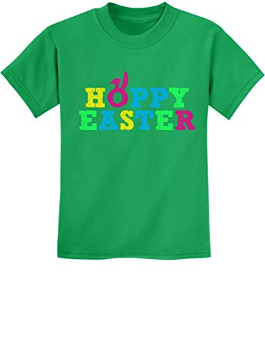 - Hoppy Easter - Happy Easter Cute Colorful Holiday Boy/Girl Kids T-Shirt Medium Green