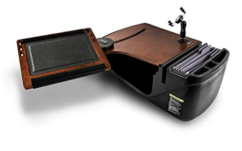 (AutoExec AUE12072 Reach Front Seat Car Desk Mahogany with Built-in Power Inverter and X-Grip Phone Mount )