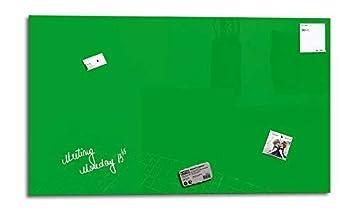 colore: Marrone castagna 1 pennarello 3 magneti SmartGlassBoard /® Lavagna magnetica in vetro//Lavagnetta 90 x 45 cm