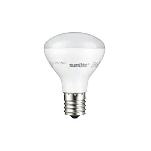 Sunlite R14/LED/N/E17/4W/D/27K LED R14 Reflector Floodlight 4W (25W Equivalent) Light Bulbs, Intermediate (E17) Base, 2700K, Warm White (2 Pack)