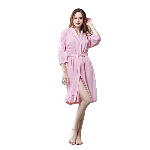 Sezione Casa Vestizione Dormire Super Blu Rosa Wknbeu Lungo Soft Hotel Abito Notte D Per Autunno Accappatoio Rosso Unisex Donne Indumenti Da Sottile Casuale Terme Signore zqOtwT