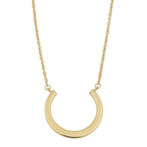 14k Yellow Gold Open Circle Adjustable Length Necklace (fits 17'' or 18'')) by Kooljewelry