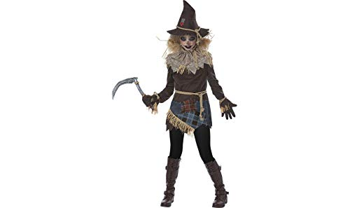 California Costumes Scary Creepy Scarecrow Girls Costume, Brown, Large
